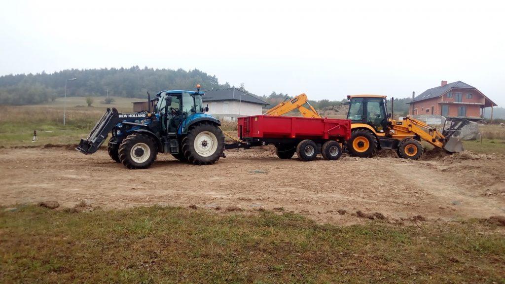 Bagrování a odvoz jílu