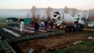 Začátek betonování